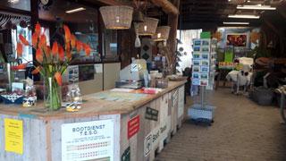 Toonbank van de boerderijwinkel