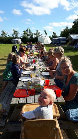 eten op de camping