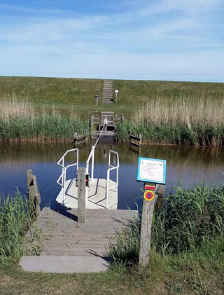 fietspontje over het kanaal